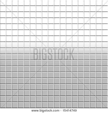 XL White Mosaic Tile Background