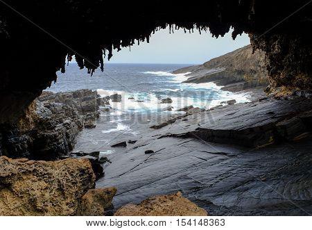 Admirals Arch On Kangaroo Island, Australia