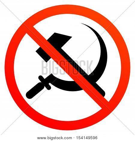 No communism sign or symbol, vector illustration
