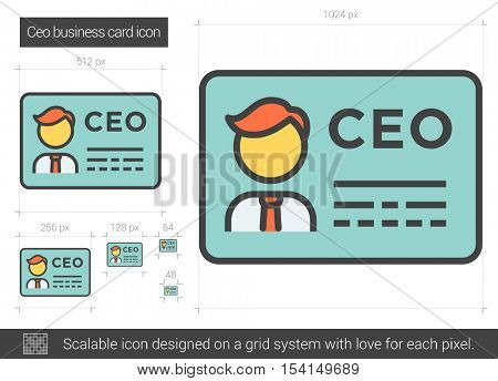 Ceo business card vector line icon vector photo bigstock ceo business card vector line icon isolated on white background ceo business card line icon reheart Gallery