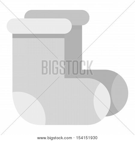 Felt boots icon. Flat illustration of felt boots vector icon for web