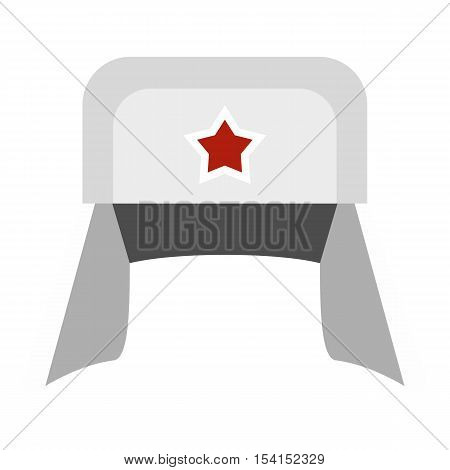Earflaps icon. Flat illustration of earflaps vector icon for web