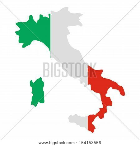 Italy map icon. Flat illustration of Italy map vector icon for web