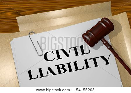 Civil Liability - Legal Concept