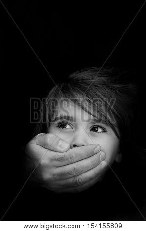 Human Trafficking - Concept Photo