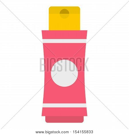 Deodorant icon. Flat illustration of deodorant vector icon for web poster