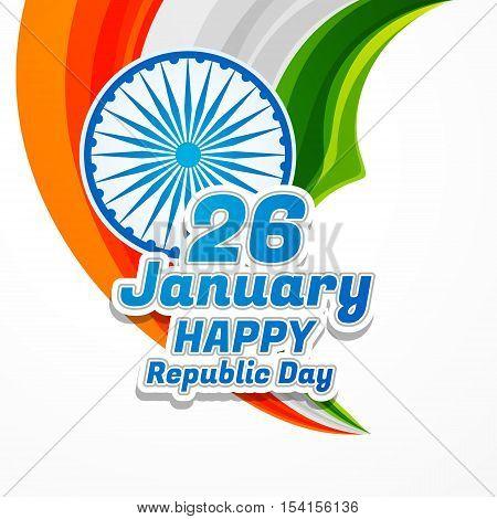 Happy Republic Day Poster Vector Design Illustration