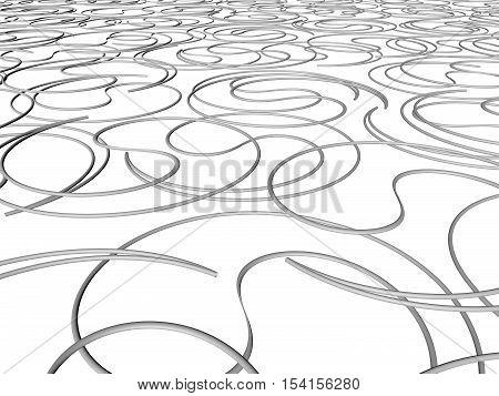 Illustration background. Patterns on the plane. 3d render. background.