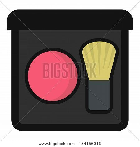 Blush icon. Flat illustration of blush vector icon for web