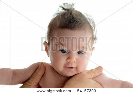 Baby In The Comfort Of Moms Hands