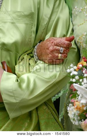 Bride Holding Tight Groom Hand