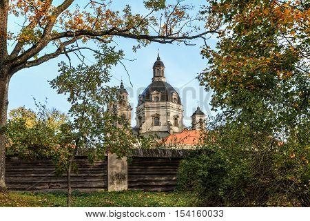 Monastery Near City Kaunas