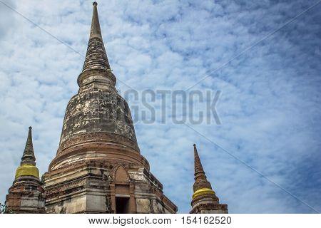 Pagoda Ayutthaya at Wat yai chai mongkhon is a Buddhist temple in Ayutthaya  Thailand