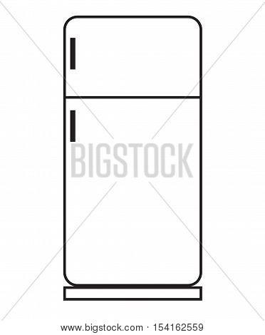 refrigerator icon on white background. refrigerator symbol.