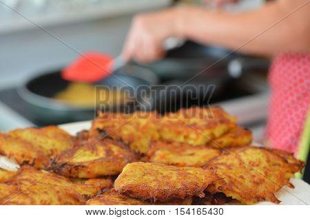 Potato Latkes - Hanukkah Jewish Holiday Food