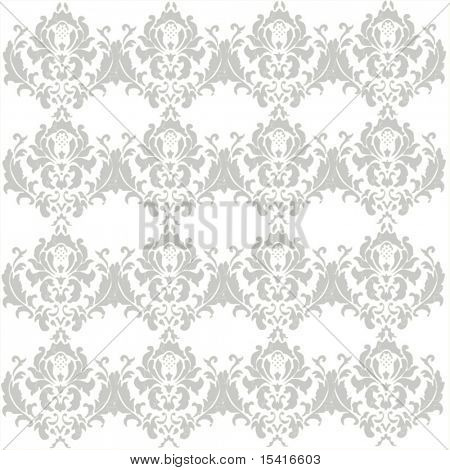 Vector White Lace Damask Seamless