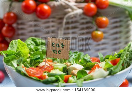 Fresh Salad Is A Symbol Of Healthy Eating