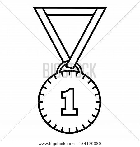 Medal for first place icon. Outline illustration of medal for first place vector icon for web
