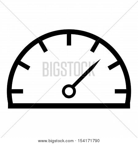 Speedometer icon. Simple illustration of speedometer vector icon for web