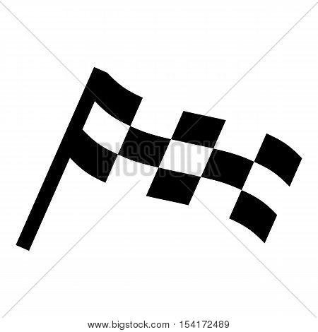 Racing flag icon. Simple illustration of racing flag vector icon for web