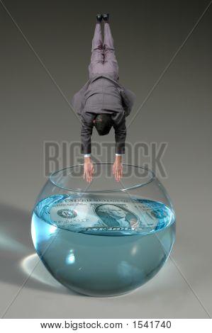 Man Diving To Bowl