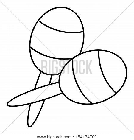 Maracas icon. Outline illustration of maracas vector icon for web