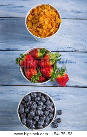 Ingredients For A Healthy Breakfast With Fruits