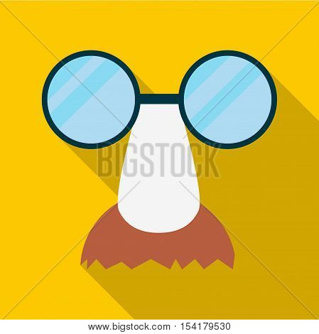 Clown face icon. Flat illustration of clown face vector icon for web