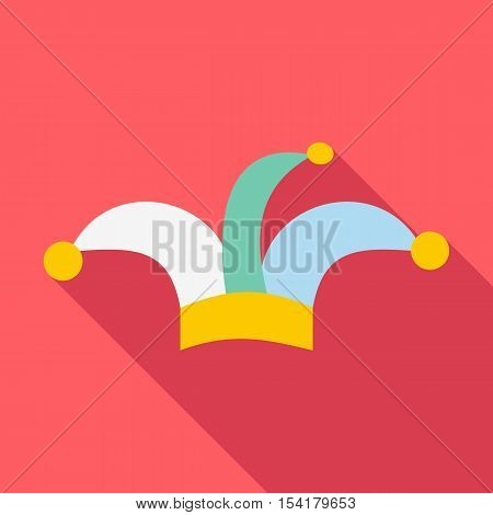 Clown hat icon. Flat illustration of clown hat vector icon for web