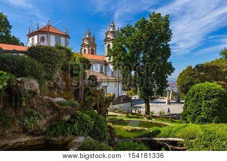 Bom Jesus church in Braga - Portugal - architecture background