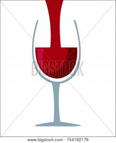 Wine glass icon - Vector illustration on white