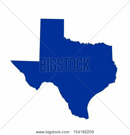 Texas State Map illustration on white background