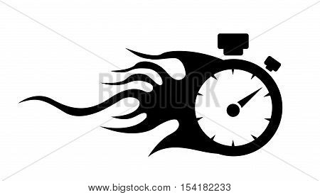 speedometer. abstract symbol of speed on white background