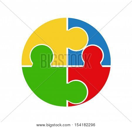 Colored Puzzle illustration art on white background