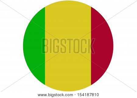 Mali flag ,original and simple Mali flag circle illustration design