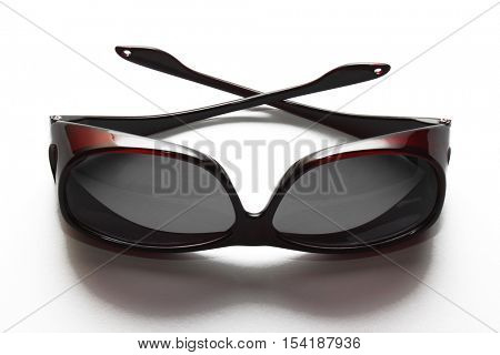 Wear Over Sunglasses for Post Eye Surgery Lying on White Background