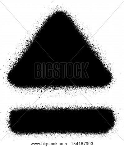 eject media graffiti spray icon in black over white