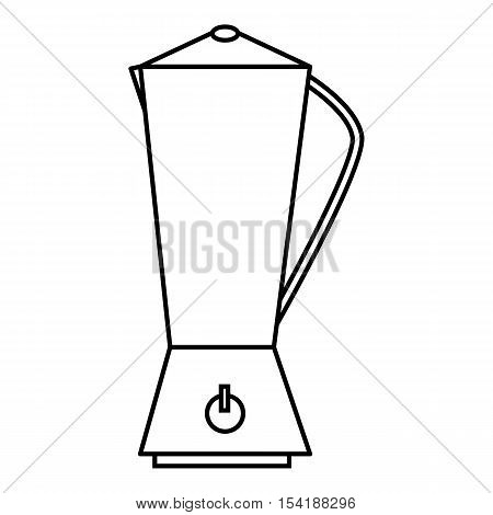 Metal electric kettle icon. Outline illustration of metal electric kettle vector icon for web
