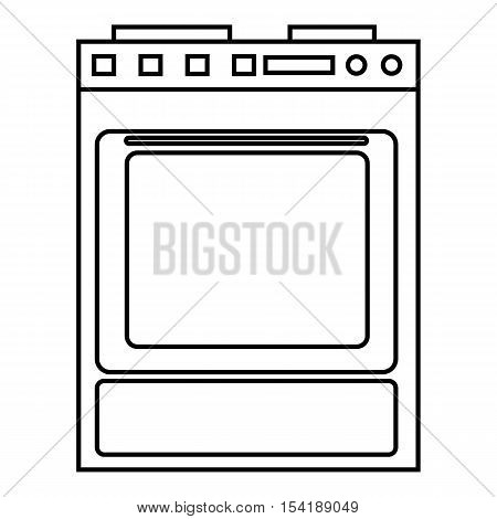 Gas stove icon. Outline illustration of gas stove vector icon for web