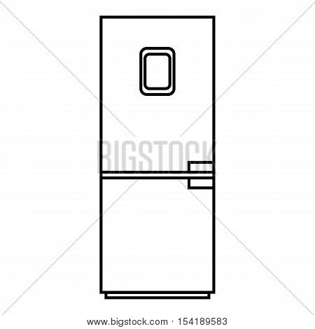 Refrigerator icon. Outline illustration of refrigerator vector icon for web