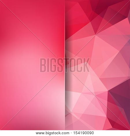 Abstract Red Mosaic Background. Blur Background. Triangle Geometric Background. Design Elements. Vec