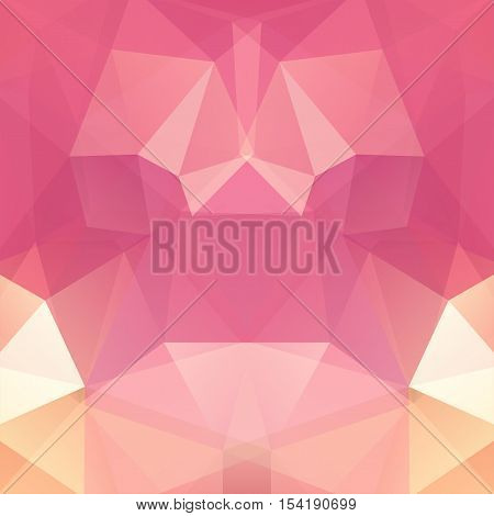 Abstract Geometric Style Pastel Background. Vector Illustration. Pink, Beige Colors
