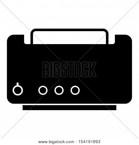 Toaster icon. Simple illustration of toaster vector icon for web