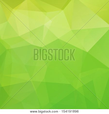 Abstract Green Mosaic Background. Triangle Geometric Background. Design Elements. Vector Illustratio