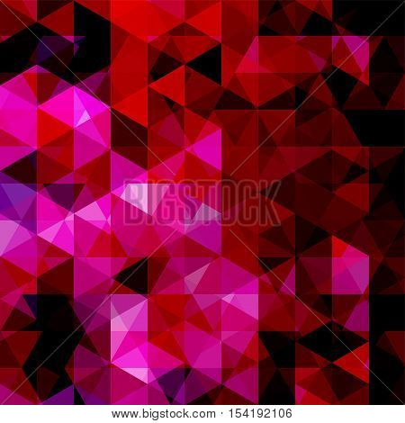 Abstract Vector Background With Triangles. Pink Geometric Vector Illustration. Creative Design Templ