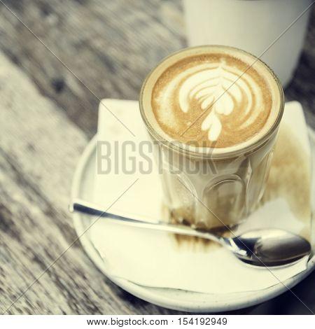 Coffee Caffeine Beverage Drink Cafe Latte Art Concept