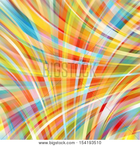 Abstract Colorful Background With Smooth Lines. Color Waves, Pattern, Art, Technology Wallpaper, Tec