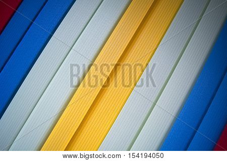 Strip fabric color blinds for winfow protection. Background