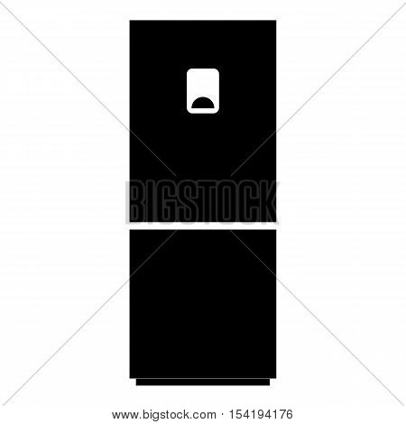 Refrigerator icon. Simple illustration of refrigerator vector icon for web