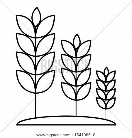 Wheat germ icon. Outline illustration of wheat germ vector icon for web